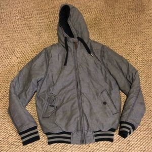 H&M Blue and Gray Cotton Puffer Coat size Small
